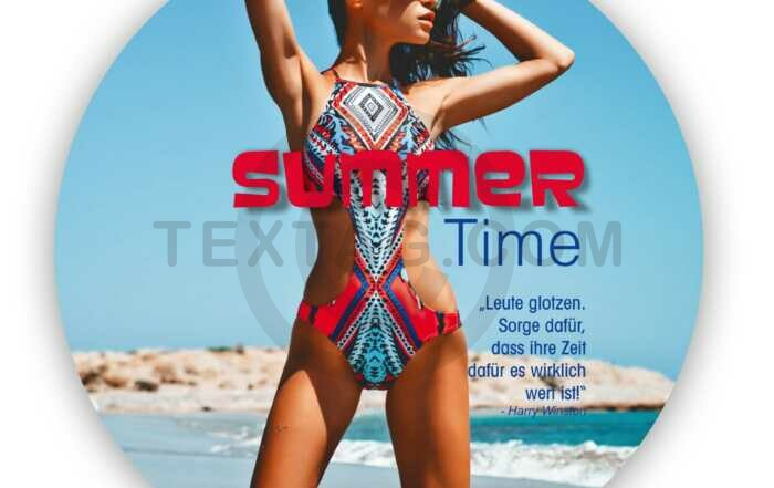 "Flyer Vorlage ""Summer Time"" für Handel – Mode & Fashion"
