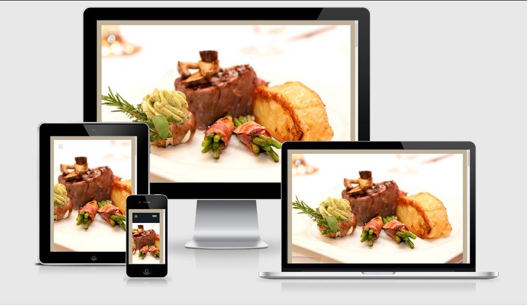 Website Vorlage - One Pages, Landing Pages - für Restaurants, Cafes oder Bars Responsive One Page Demo Vorlage zum Sofort-Kaufen!