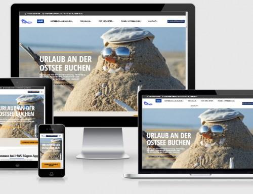 Webdesign Referenz HWS Rügen Appart – Reinigung, Ferienunterkünfte und Zimmervermittlung