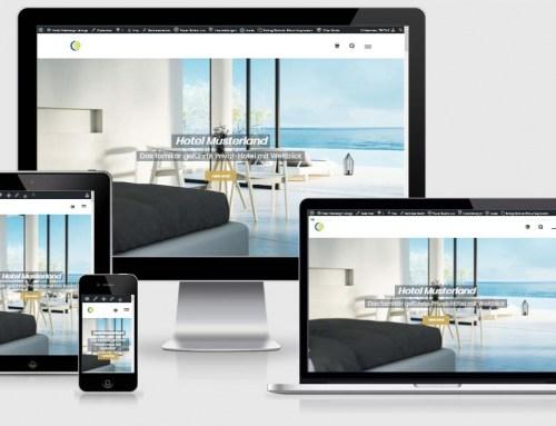 Homepage für Hotels