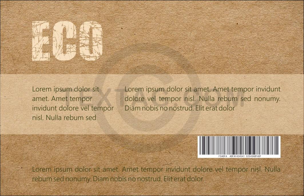 """GRASKARTE """"ECO"""" Kundenkarte Design Vorlage GK-2019-000136 - 50% aus Gras / Heu, bis zu 75 % Einsparung bei CO2-Emissionen"""