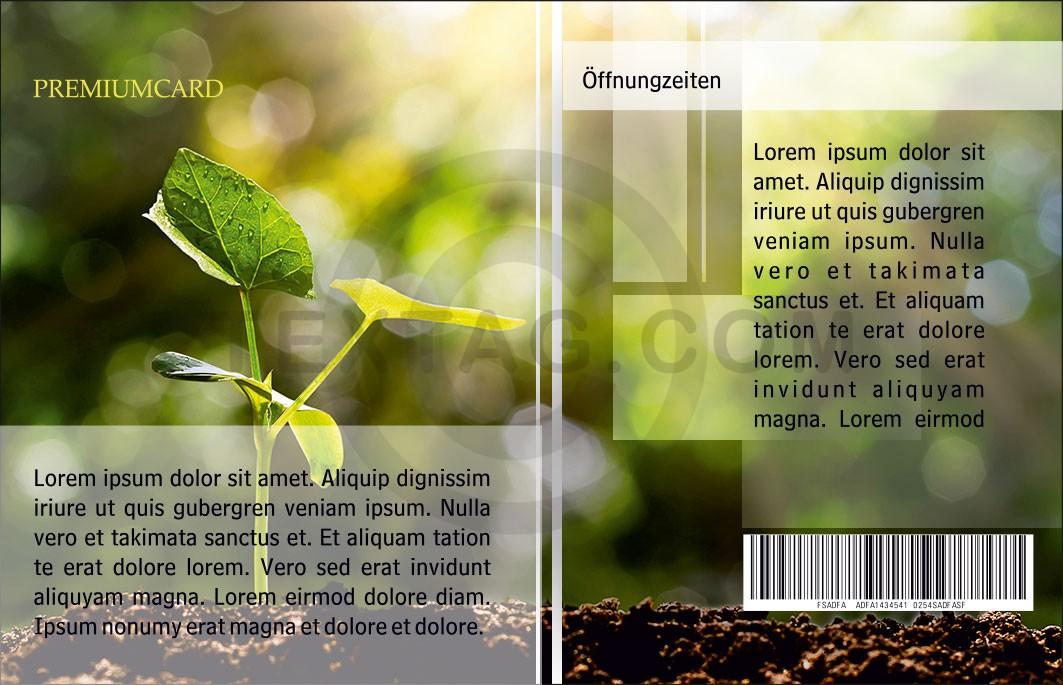"""Kundenkarte GRASKARTE """"Gartentraum Ökobau"""" Design Vorlage GK-2019-000143"""