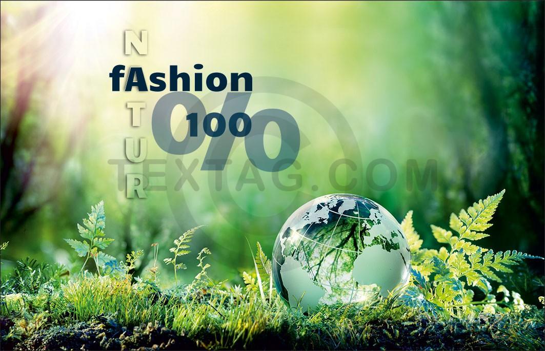 "Kundenkarte GRASKARTE ""Natur Fashion 100%"" Design Vorlage GK-2019-000143"