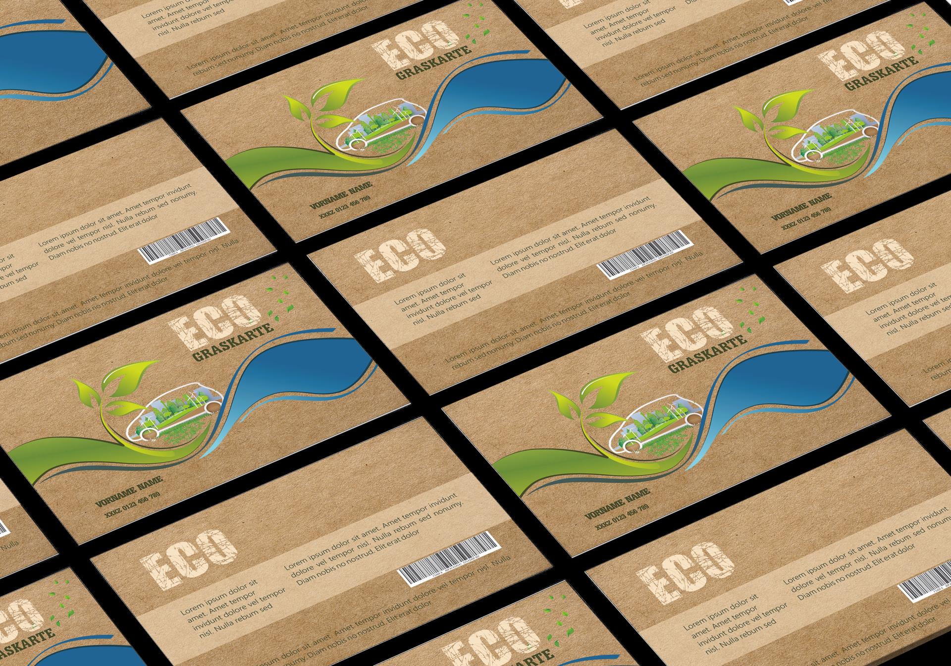 "GRASKARTE ""ECO"" Kundenkarte Design Vorlage GK-2019-000136"