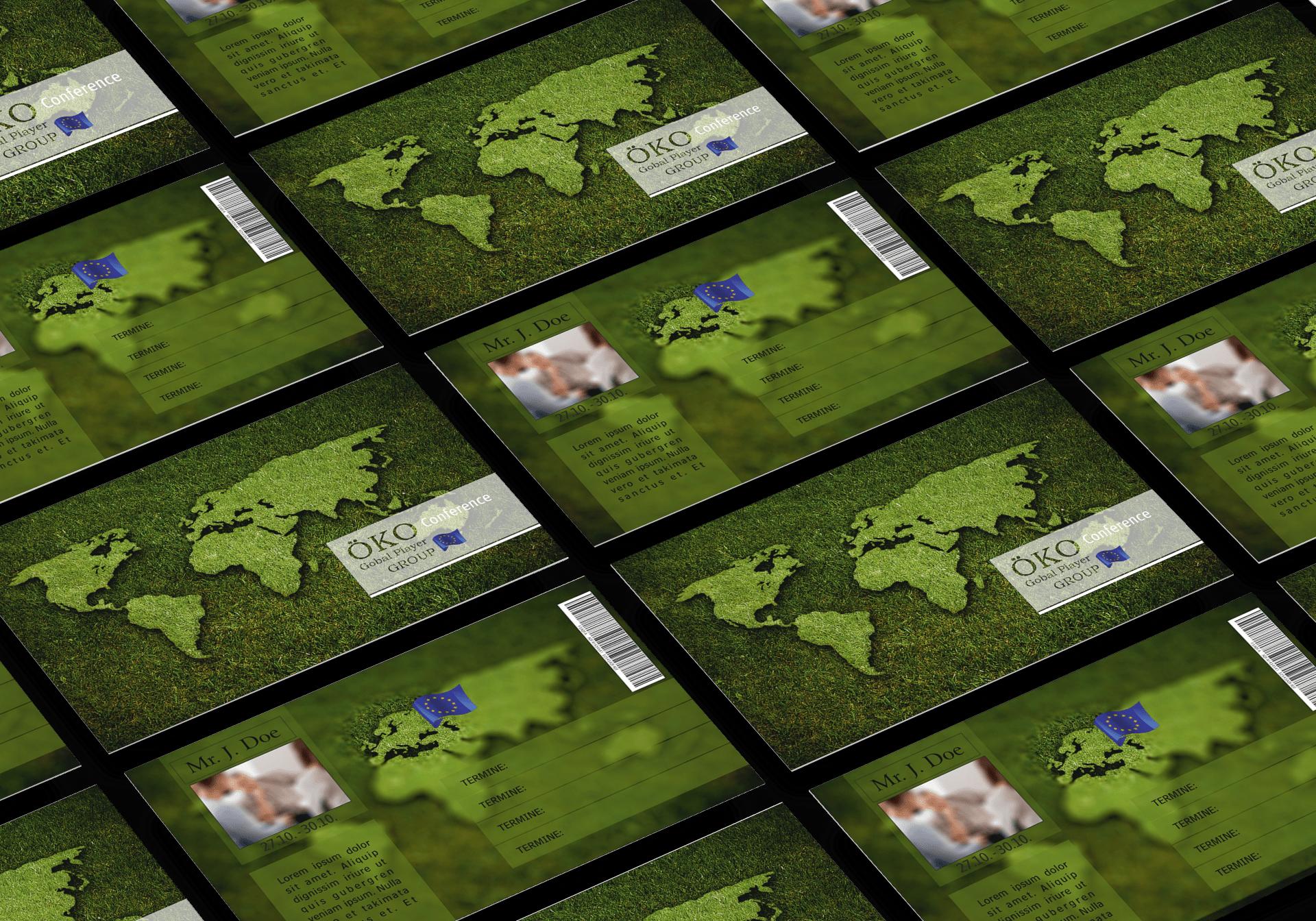 "GRASKARTE ""ÖKO GLOBAL PLAYER"" Design Vorlage GK-2019-000140"