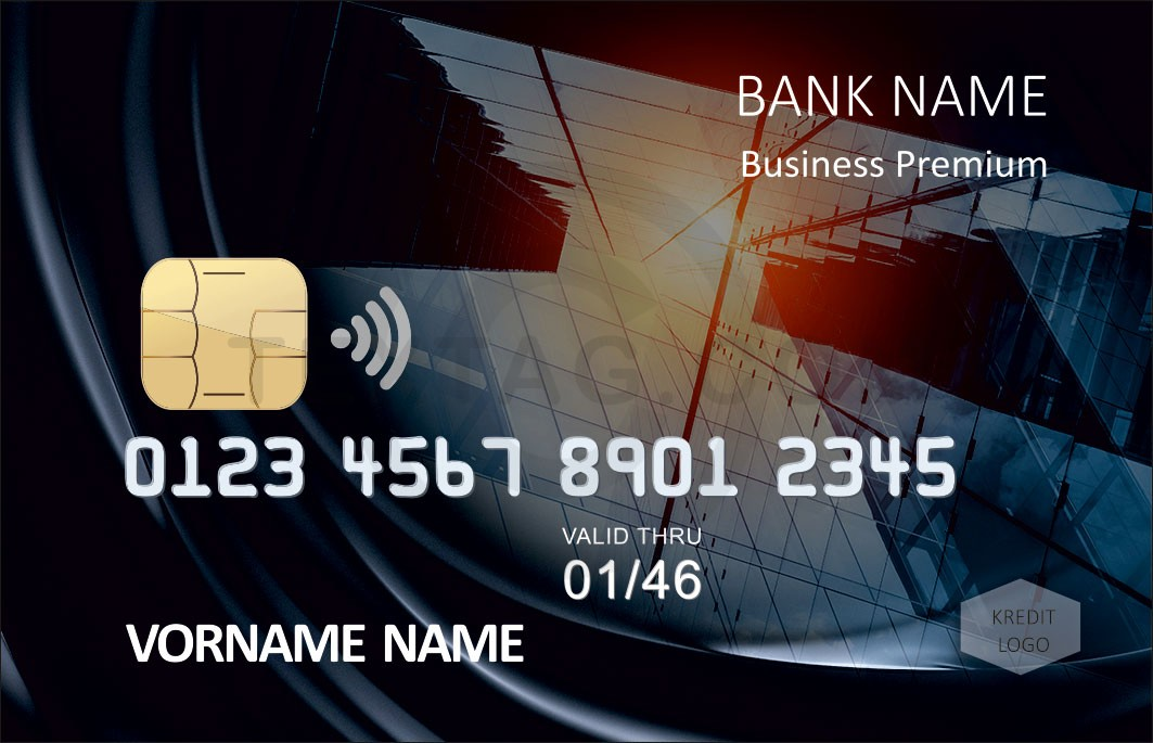 Kreditkarten Design Vorlagen - Kreditkarte mit individuellem Motiv - Plastikkarten bedrucken