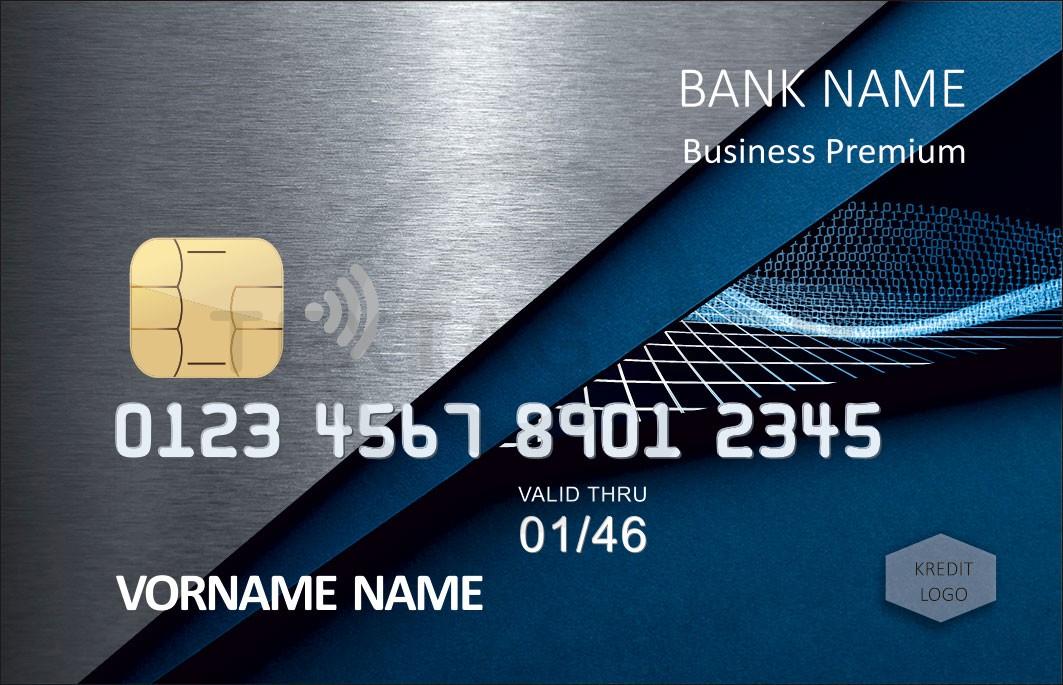 Kreditkarte Designvorlage KC-2019-000101