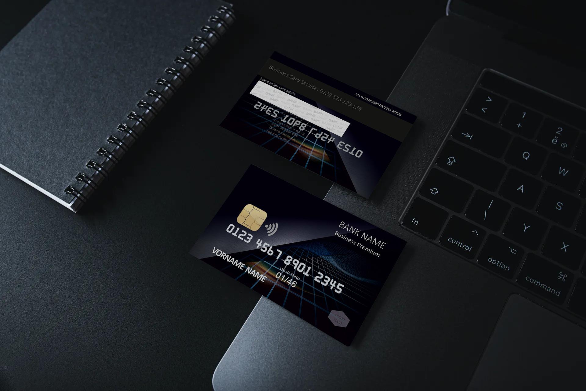 Kreditkarte Designvorlage KC-2019-000103