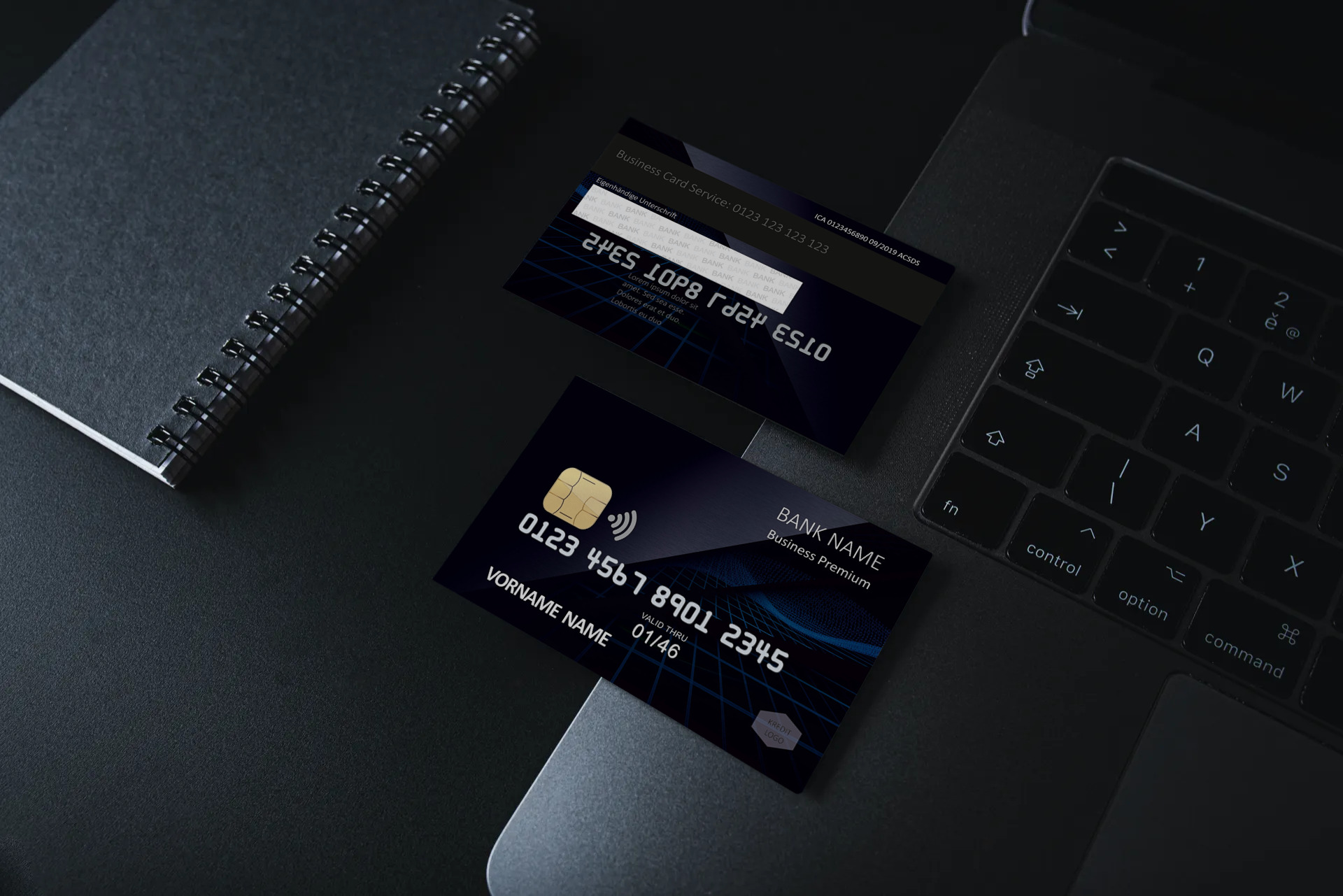Kreditkarte Designvorlage KC-2019-000104 - TEXTAG GROUP