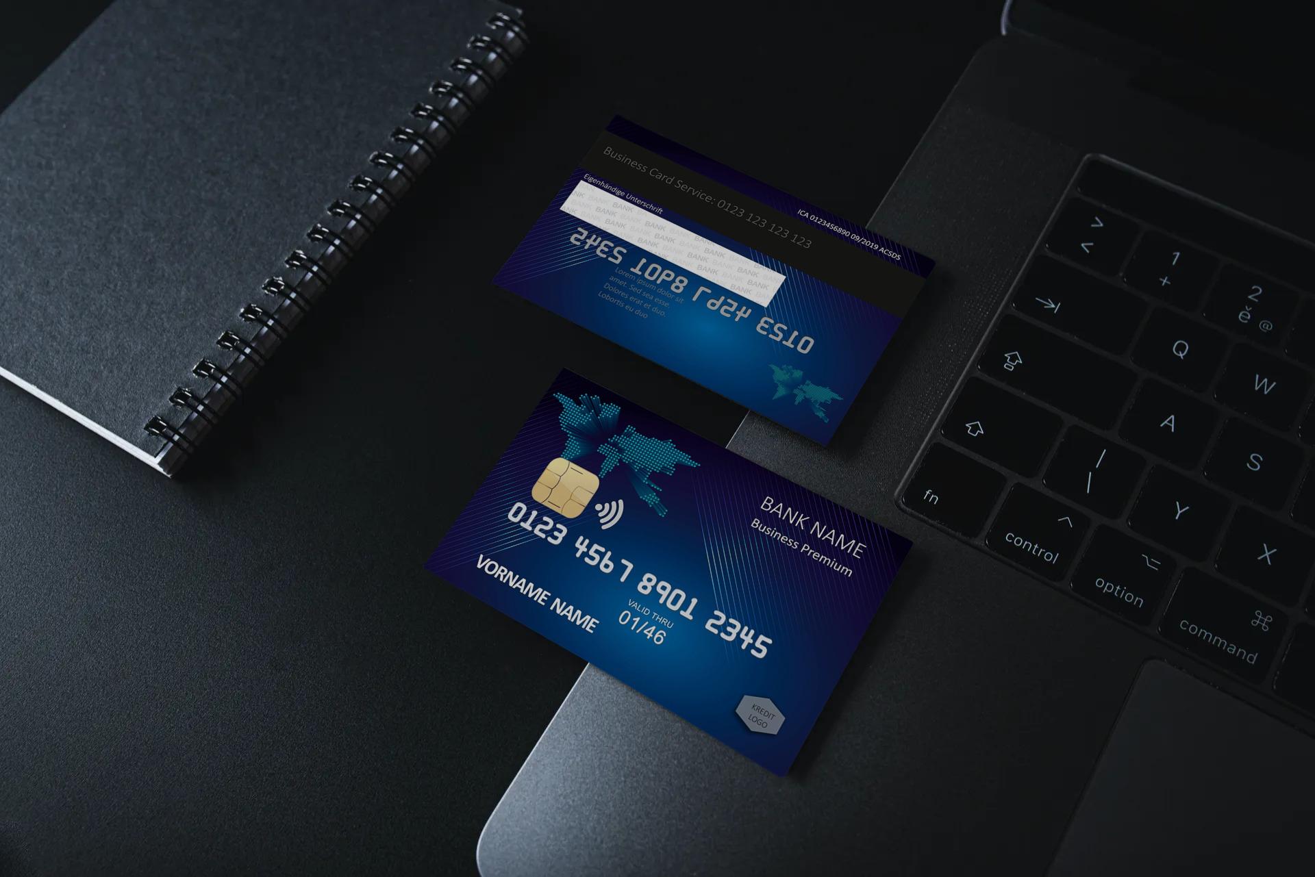 Kreditkarte Designvorlage KC-2019-000106 - TEXTAG GROUP
