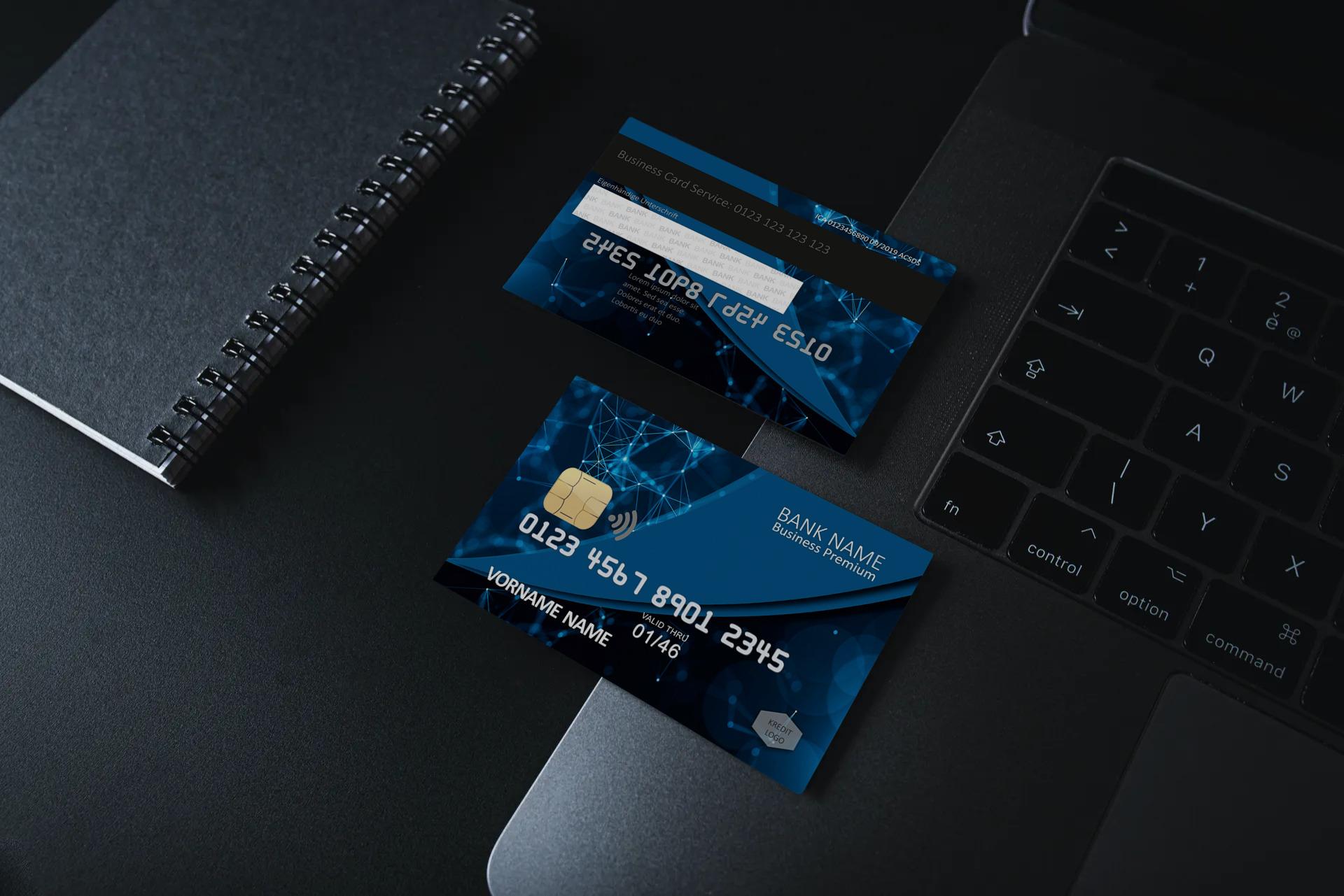 Kreditkarte Designvorlage KC-2019-000107 - TEXTAG GROUP