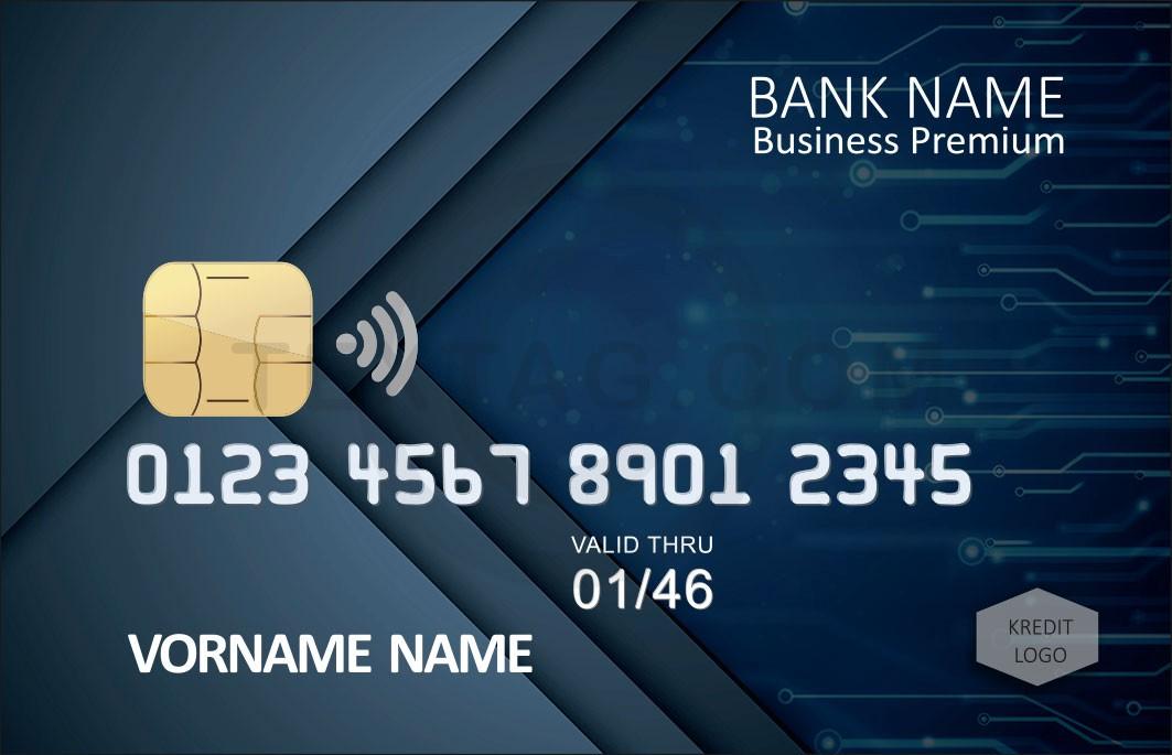 Kreditkarte Designvorlage KC-2019-000108 - TEXTAG GROUP