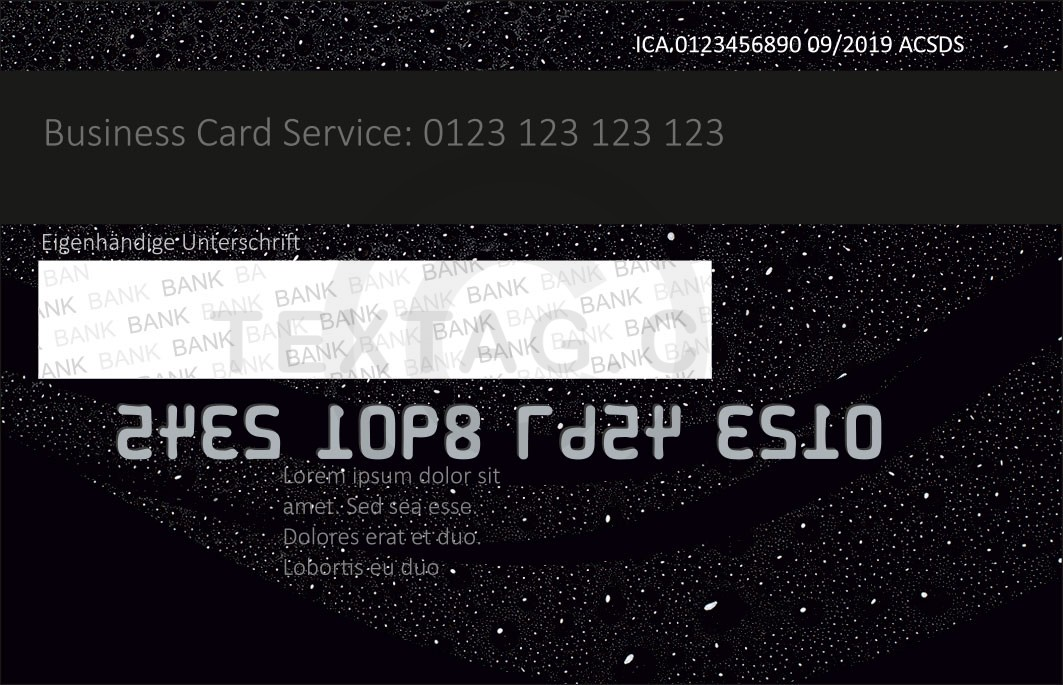 Kreditkarten Design Vorlage KC-2019-000109 TEXTAG GROUP - Kreditkarte mit individuellem Motiv