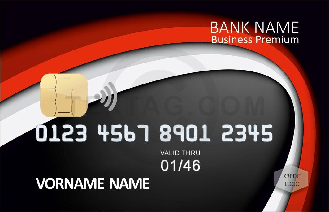 Kreditkarte Designvorlage KC-2019-000111 - TEXTAG GROUP