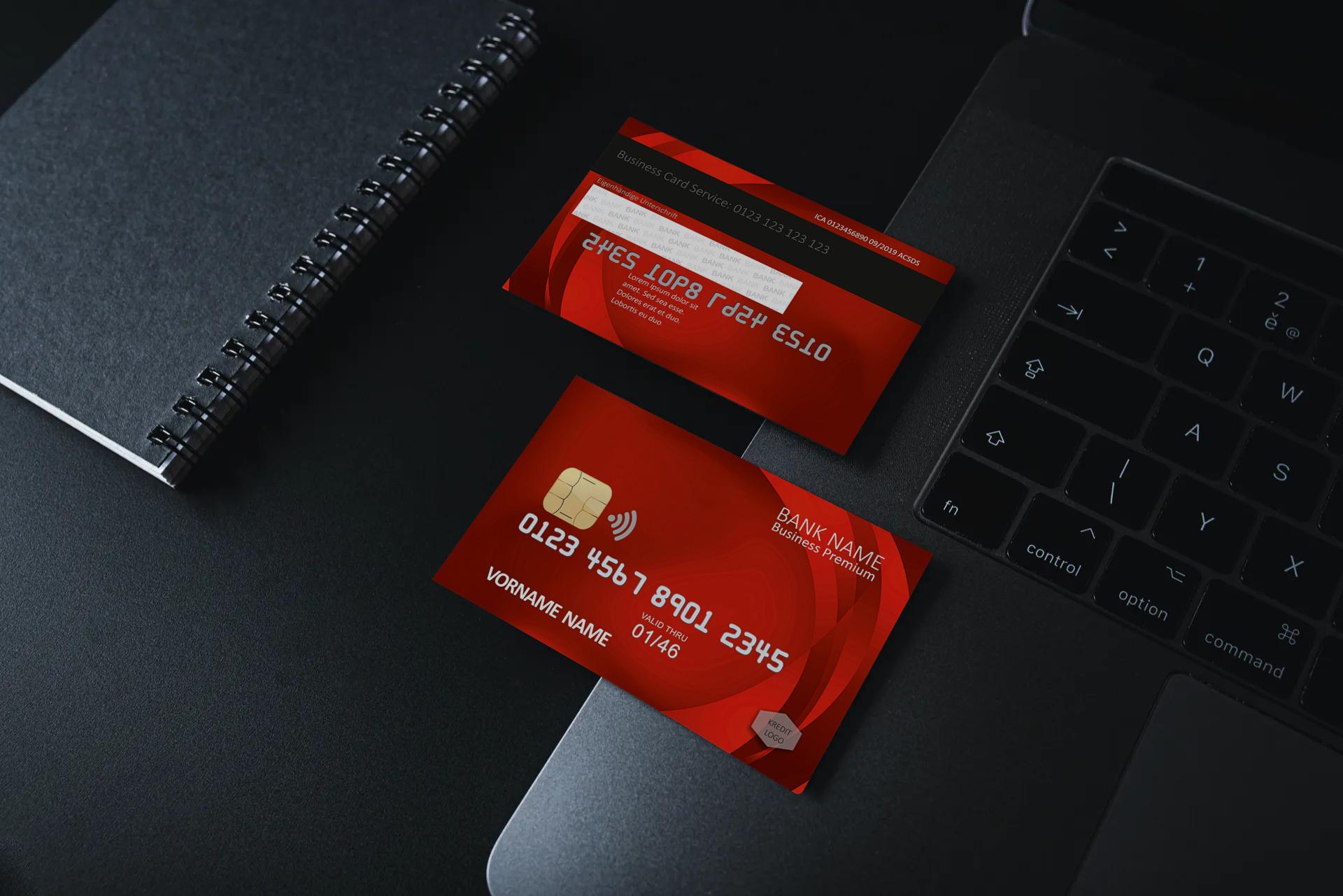 Kreditkarte Designvorlage KC-2019-000113 - TEXTAG GROUP