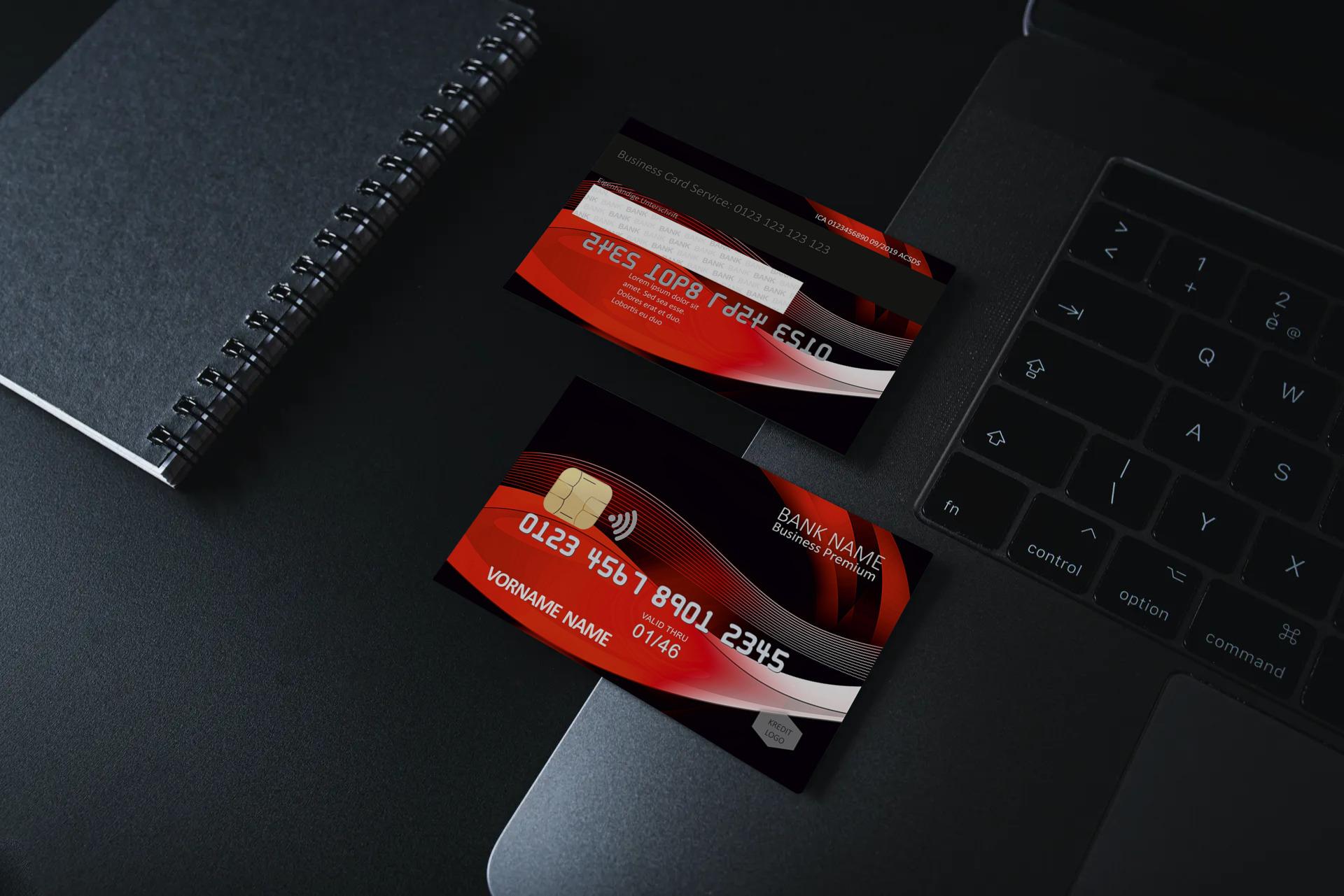Kreditkarte Designvorlage KC-2019-000114 - TEXTAG GROUP
