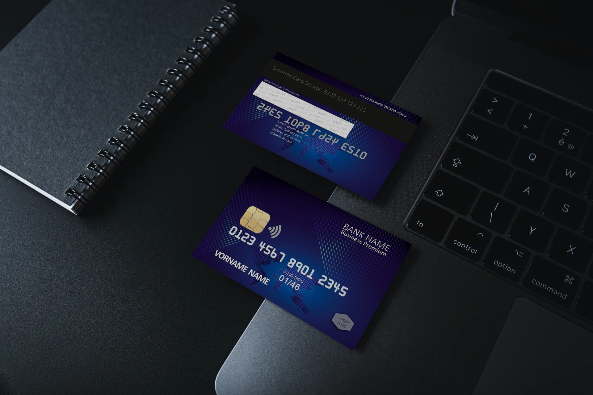 Kreditkarte Designvorlage KC-2019-000118 - TEXTAG GROUP