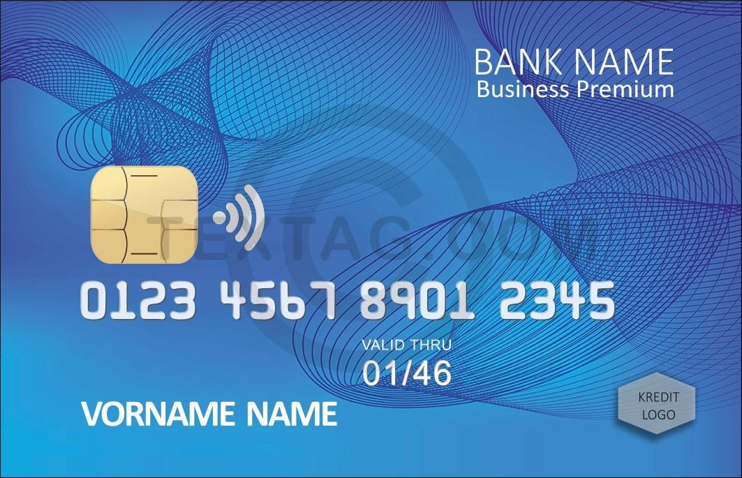 Kreditkarte Designvorlage KC-2019-000119 - TEXTAG GROUP