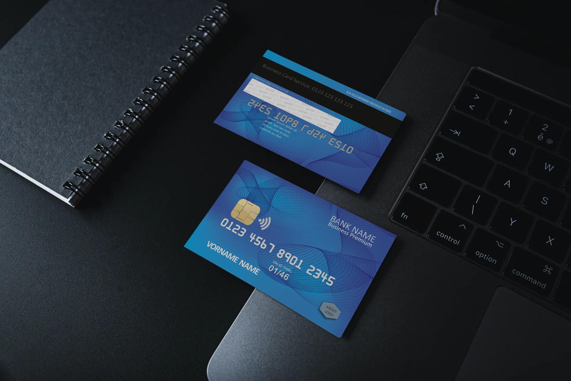 Kreditkarte Designvorlage KC-2019-000120 - TEXTAG GROUP