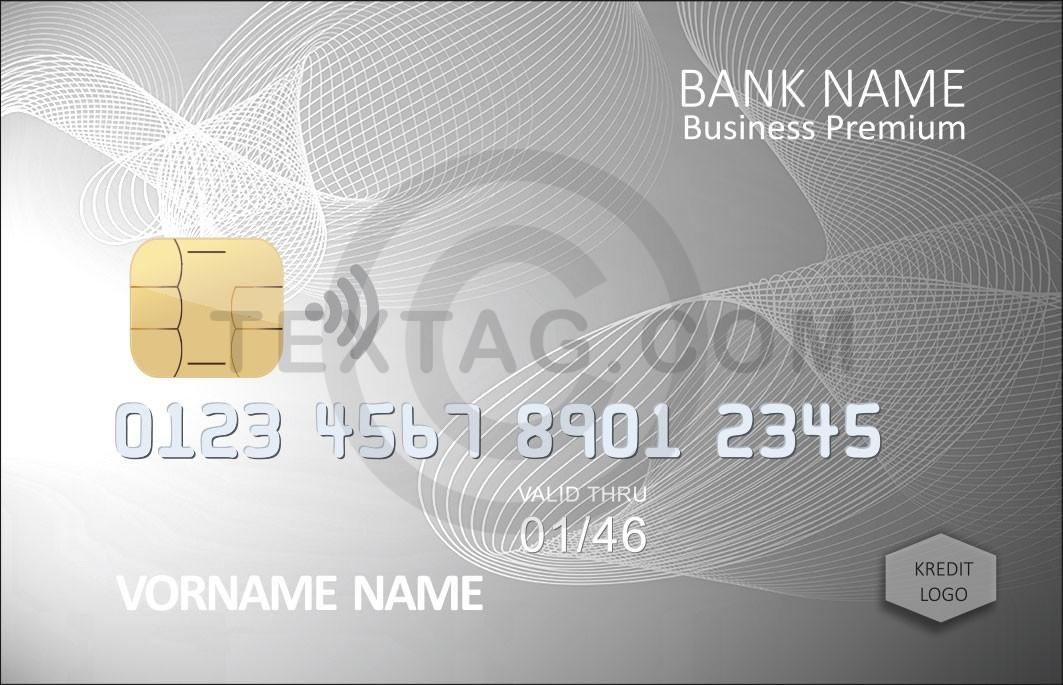 Kreditkarte Designvorlage KC-2019-000121 - TEXTAG GROUP