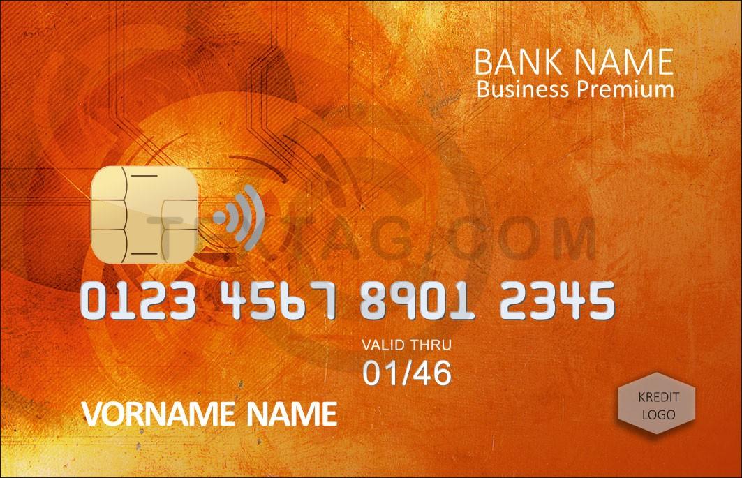 Kreditkarte Designvorlage KC-2019-000122 - TEXTAG GROUP