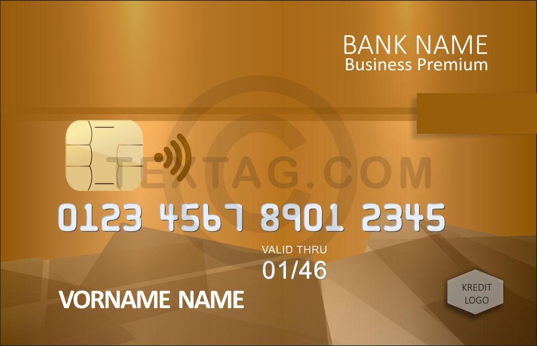 Kreditkarte Designvorlage KC-2019-000123 - TEXTAG GROUP