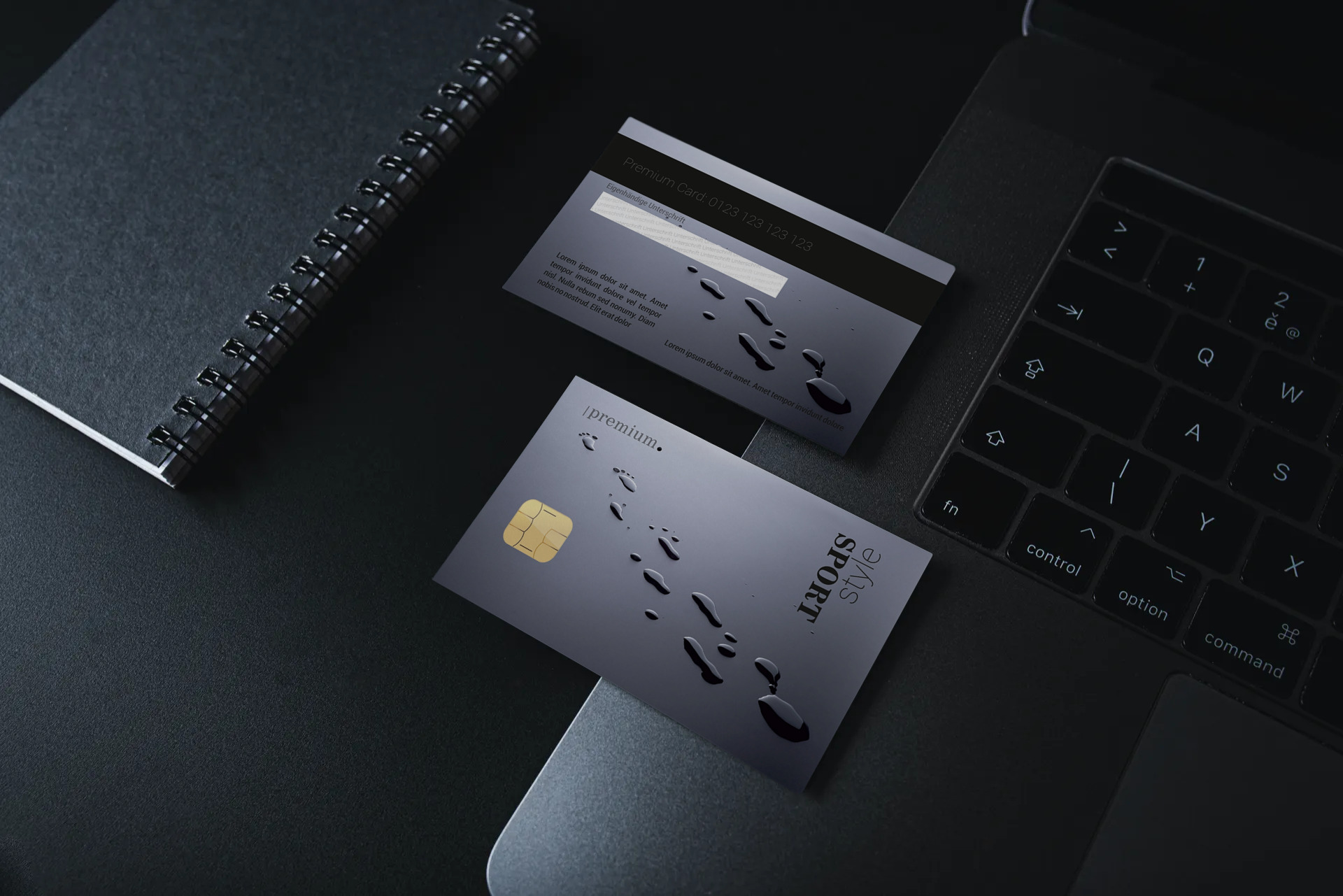 "Kundenkarte ""Sport style black"" Designvorlage KK-2019-000124 TEXTAG GROUP"
