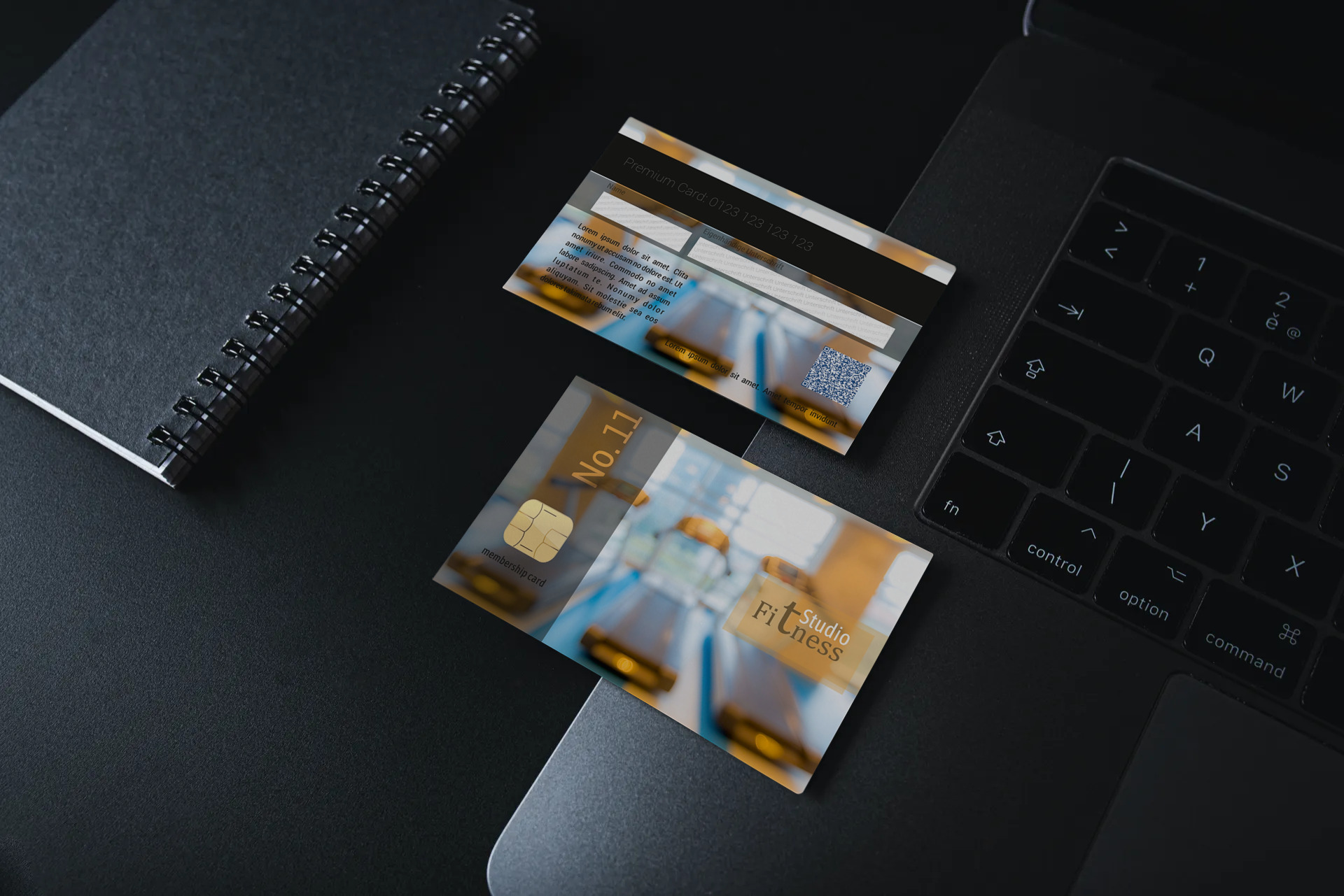 "Kundenkarte ""Fitness Studio NO.11"" Designvorlage KK-2019-000125 TEXTAG GROUP"