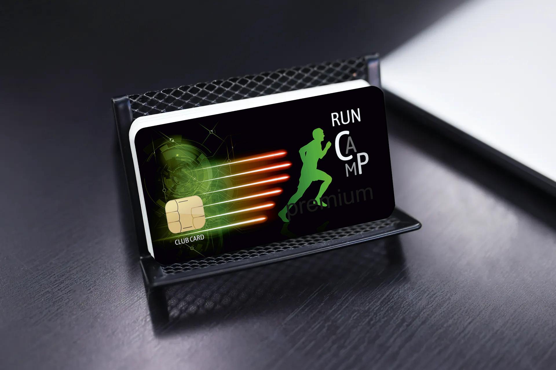"""Kundenkarte """"Run Camp"""" Designvorlage KK-2019-000126"""