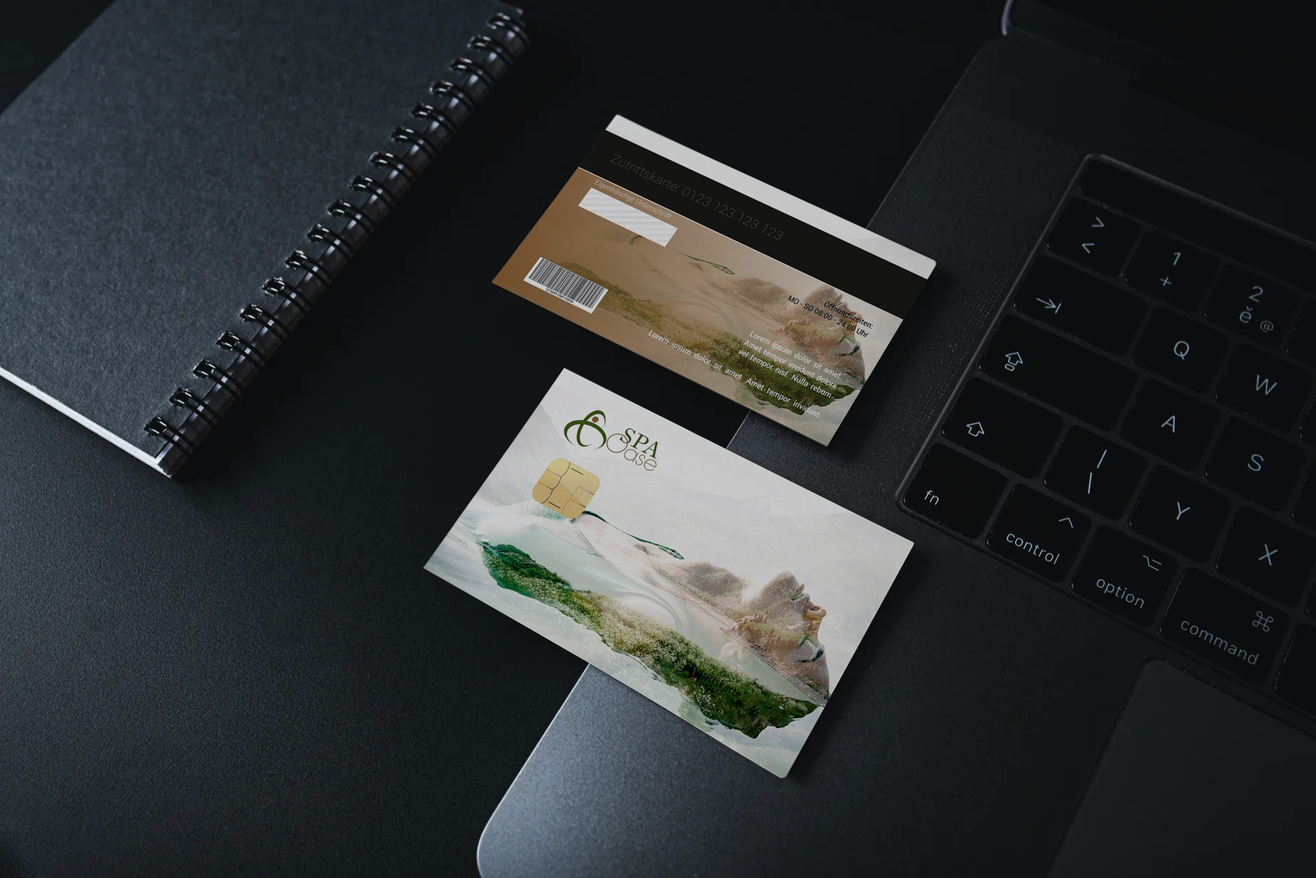 "Kundenkarte ""SPA Oase"" Designvorlage KK-2019-000127 TEXTAG GROUP"