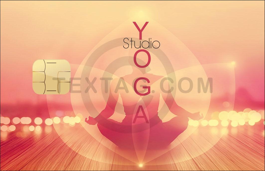 "Kundenkarte ""YOGA Studio"" Designvorlage KK-2019-000128"