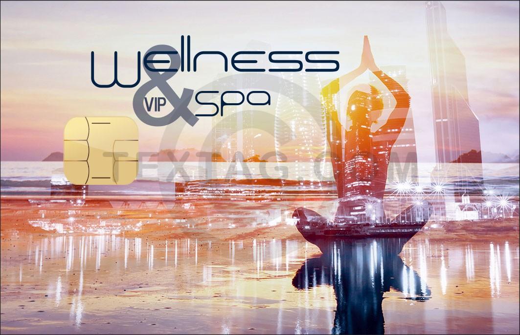 "VIP Kundenkarte ""Wellness & SPA"" Designvorlage KK-2019-000129"