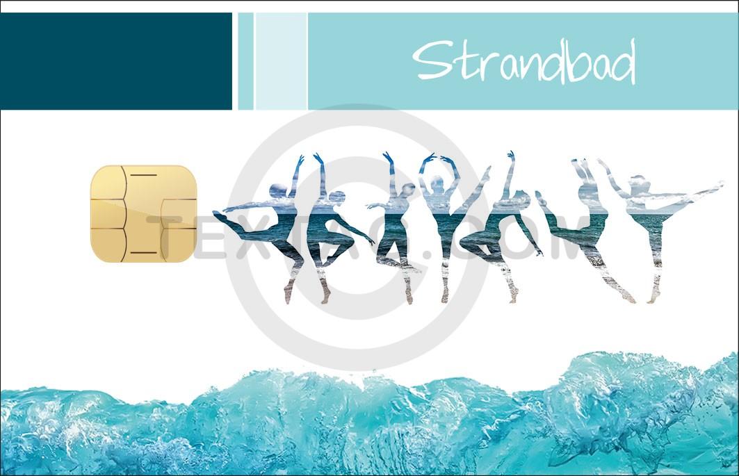 "VIP Kundenkarte ""Strandbad"" Designvorlage KK-2019-000131"