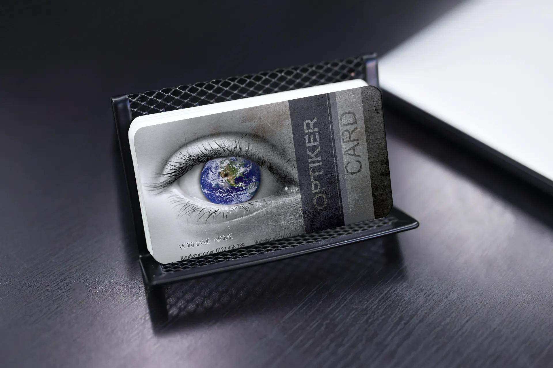 "Kundenkarte ""Optiker Card"" Designvorlage KK-2019-000132"