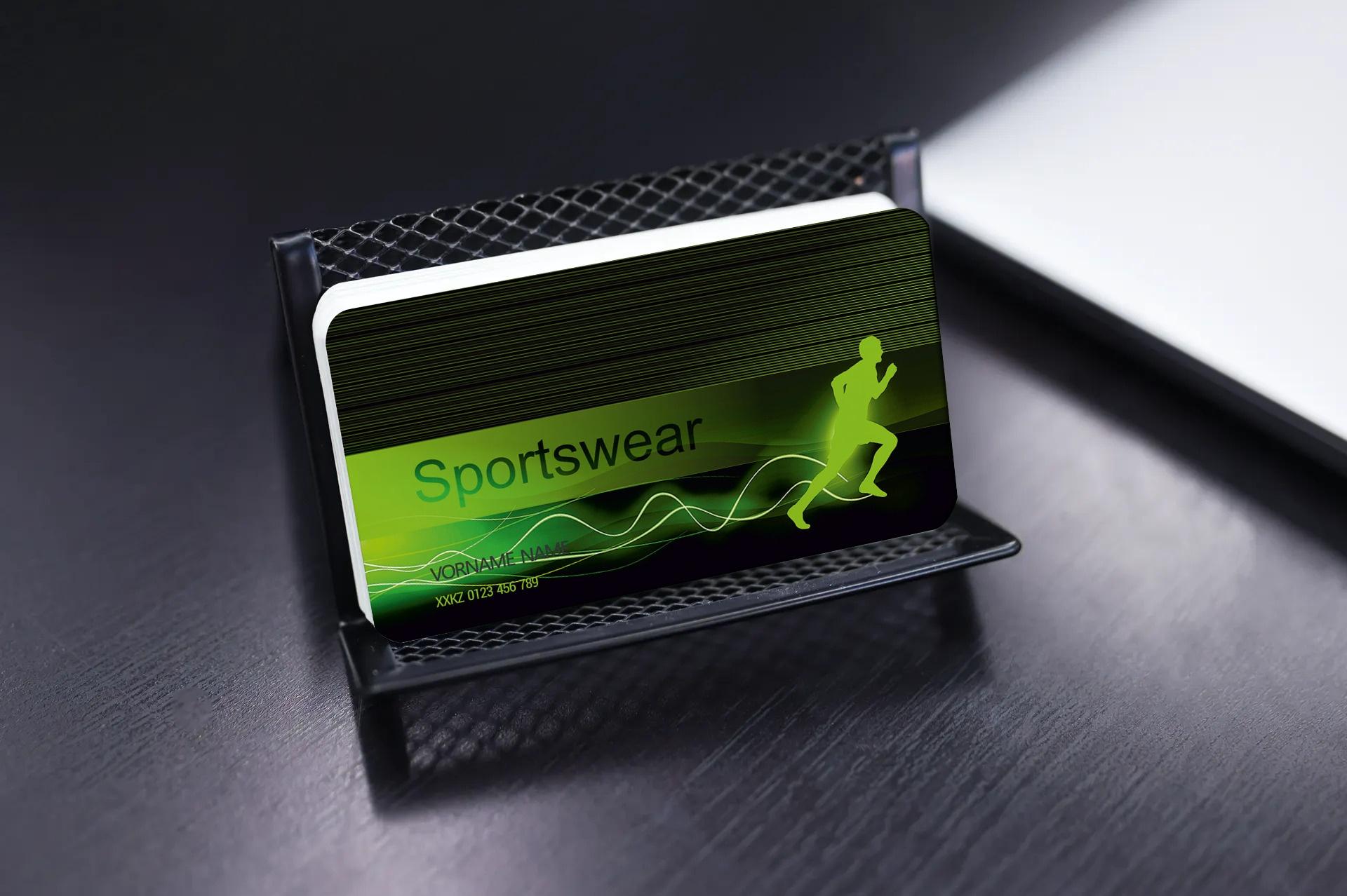 "Kundenkarte ""Sportswear"" Designvorlage KK-2019-000133"