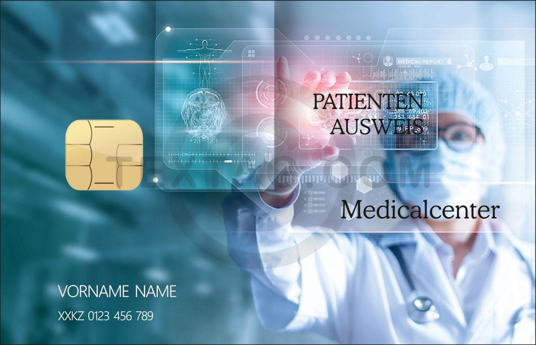 "Kundenkarte ""Patientenausweis"" Designvorlage KK-2019-000134"