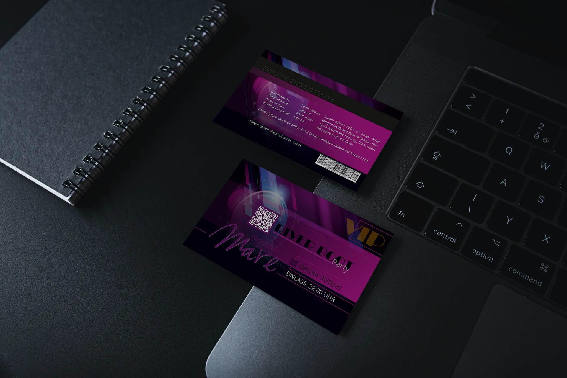 "Eventkarte ""River Boot"" Designvorlage KK-2019-000135"
