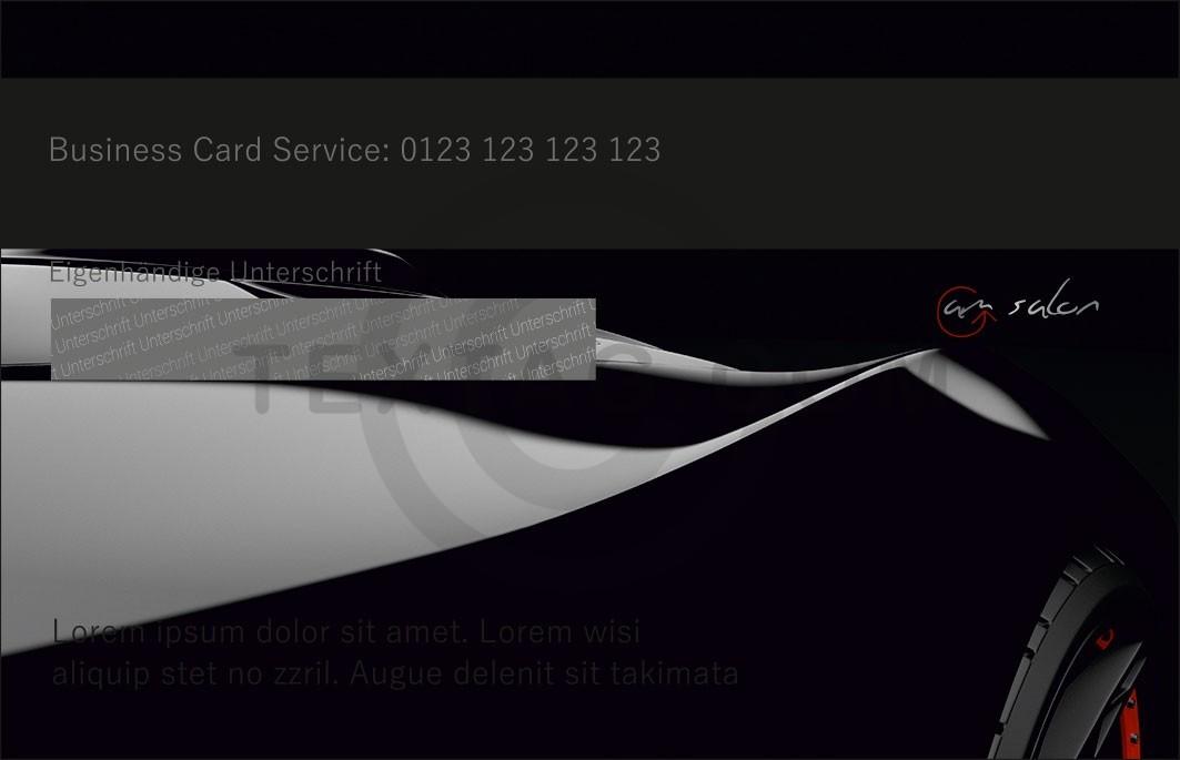 "Kundenkarte ""as salon"" Designvorlage KK-2019-000144"