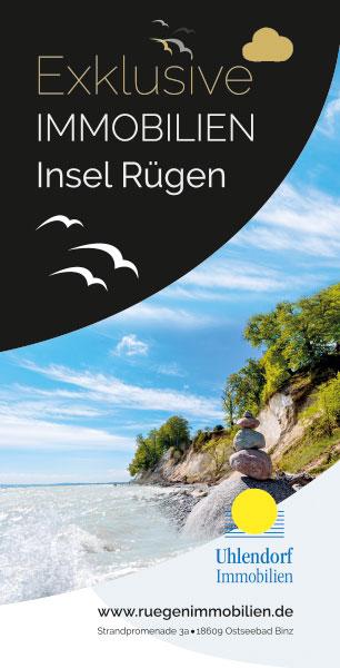 Flyer DIN lang Uhlendorf Immobilien, Rügen, Binz