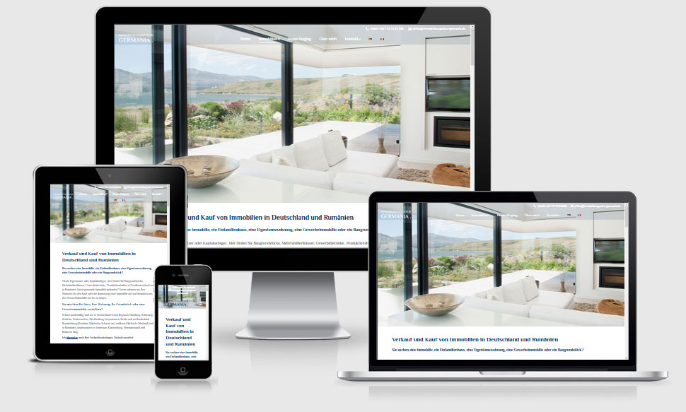 Webdesign Referenz Immobilienagentur Germania