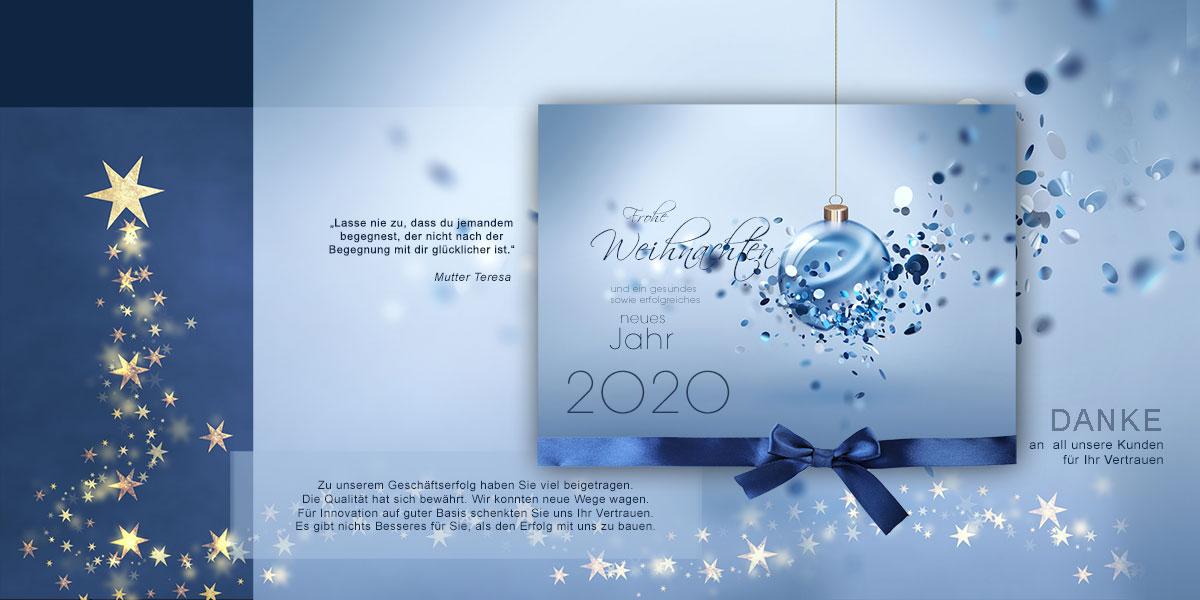 Extravagante Weihnachts E-Cards für Kunden und Geschäftspartner. Ohne Werbung!