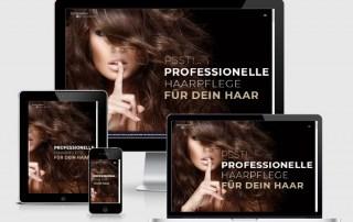 Responsive Webdesign Vorlage für Friseure und Beauty Salons