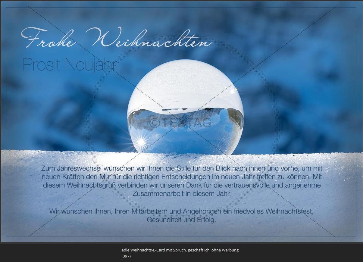 edle Weihnachts-E-Card mit Spruch, geschäftlich, ohne Werbung (397)