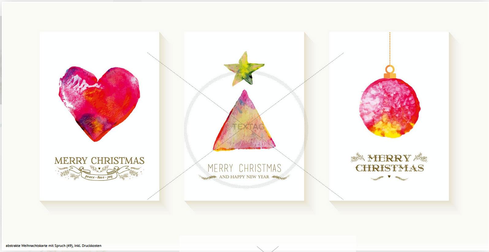 Extravagant designte Weihnachtsgrußkarten mit Spruch für Firmen