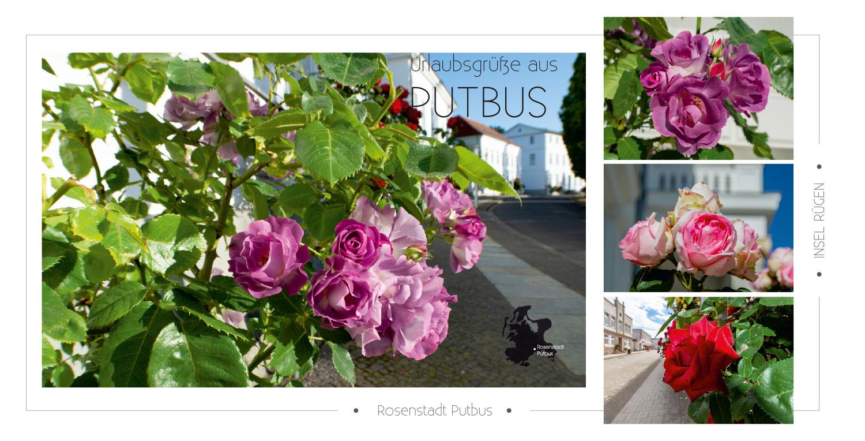 Extravagant designte Ansichtskarten von der Rosenstadt Putbus auf Rügen