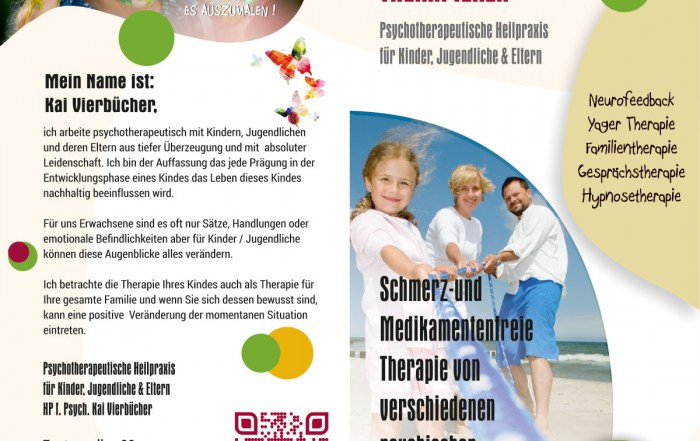 Flyer DIN-Lang - Grafikdesign Referenz Psychotherapeutische Heilpraxis