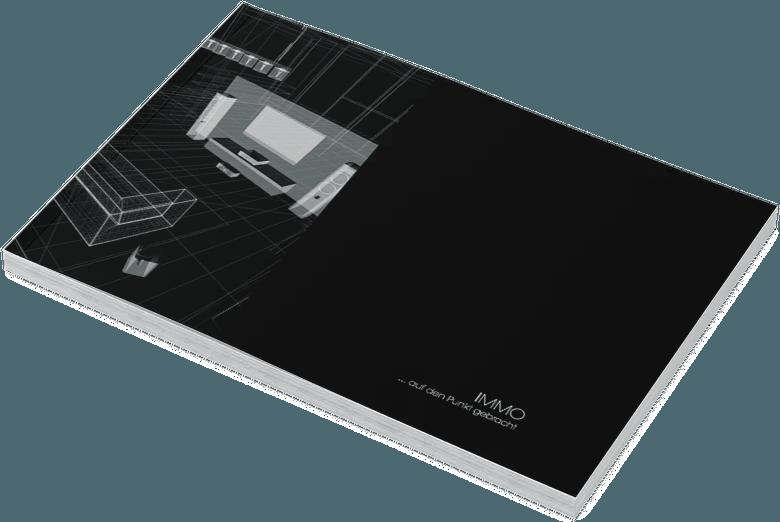 Exposé / Broschüre IMMO BLACK – Designvorlage für Architekten & Immobilienmakler online