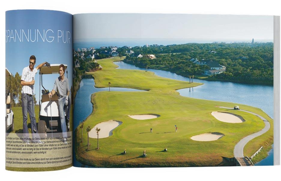 Grafik Design Hotel Golfresort Broschürevorlage