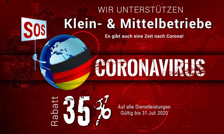 Corona Hilfe von TEXTAG GROUP Putbus auf Rügen Corona Hilfe für KMUs Es gibt auch eine Zeit nach Corona! 35% auf meine hauseigenen Leistungen für KMUs