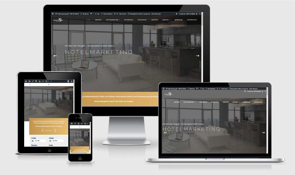 Webdesign-Referenz: Website Erstellung mit WordPress hotelmarketing.jetzt